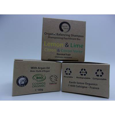 Balancing Solid Shampoo - Lemon & Lime - Normal & all Hair Types - Earth Sense - Hair