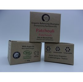 Balancing Solid Shampoo - Patchouli - Oily & all Hair Types - Earth Sense - Hair