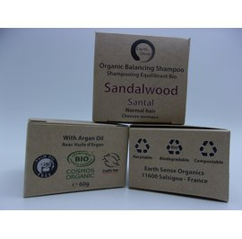 Balancing Solid Shampoo - Sandalwood - Normal & all Hair Types - Earth Sense - Hair