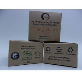 Balancing Solid Shampoo - Ylang Ylang - Normal & all Hair Types - Earth Sense - Hair