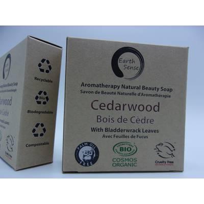 Savon Solide  - Bois de Cèdre avec fucus - Earth Sense - Hygiène
