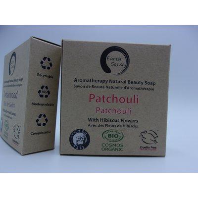Savon Solide - Patchouli aux Fleurs d'Hibiscus - Earth Sense - Santé - Hygiène - Massage et détente - Corps