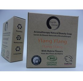Solid Soap - Ylang Ylang with Blue Malvia Flowers - Earth Sense - Hygiene