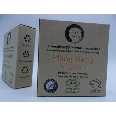 Savon Solide  - Ylang Ylang Ylang aux Fleurs de Malvia Bleues - Earth Sense - Hygiène