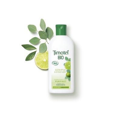 shampooing 2 en 1 PURIFIANT EUCALYPTUS & CITRON VERT - Timotei BIO - Cheveux