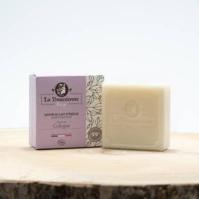 Savon lait d'ânesse BIO parfum Cologne 98 grs - LA DOUCEENNE - Hygiène
