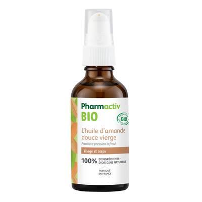 L'huile végétale vierge d'amande douce - Pharmactiv Bio - Massage et détente