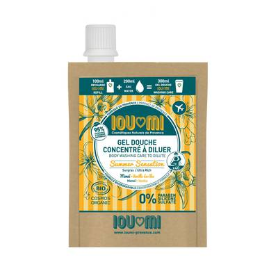 Refill Shower Care In Concentrate To Dilute Vanilla / Monoï Oil  Surgras - IOUMI-PROVENCE - Health - Diy ingredients - Hygiene - Face - Body