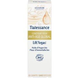 Global anti-aging eye contour cream - Lift'Argan - Natessance - Face