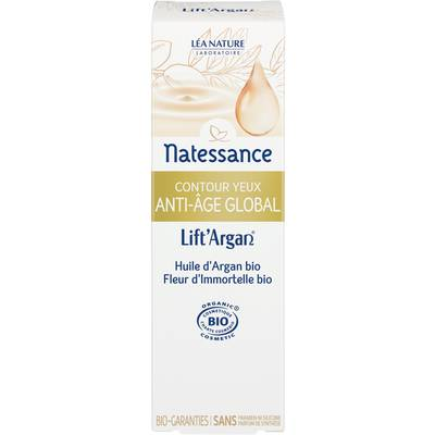Global anti-aging eye contour cream - Lift'Argan - Natessance - Face