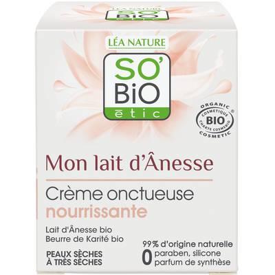 Crème onctueuse nourrissante - Mon Lait d'Ânesse - So'bio étic - Visage