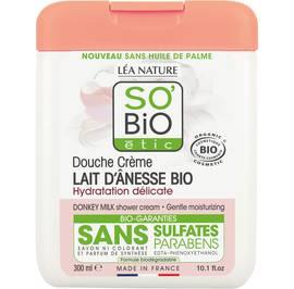 Douche crème lait d'ânesse bio - Hydratation délicate - So'bio étic - Hygiène