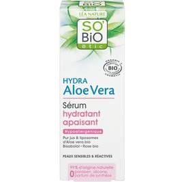 Sérum hydratant apaisant, peaux sensibles et réactives - Hydra Aloe Vera - So'bio étic - Visage