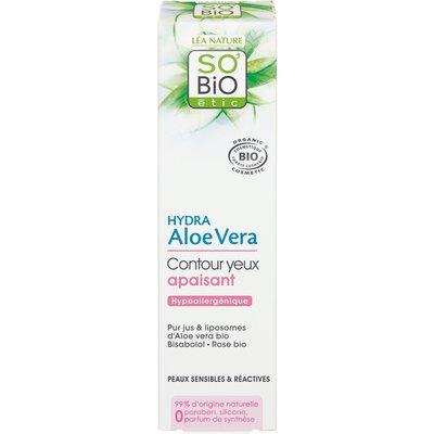 Contour yeux apaisant, peaux sensibles et réactives - Hydra Aloe Vera - So'bio étic - Visage