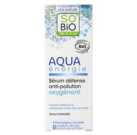 Sérum défense anti-pollution oxygénant - Aqua énergie - So'bio étic - Visage