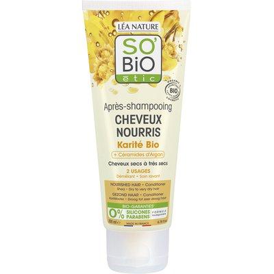 Après-shampooing cheveux nourris - Karité bio + céramides d'argan - So'bio étic - Cheveux