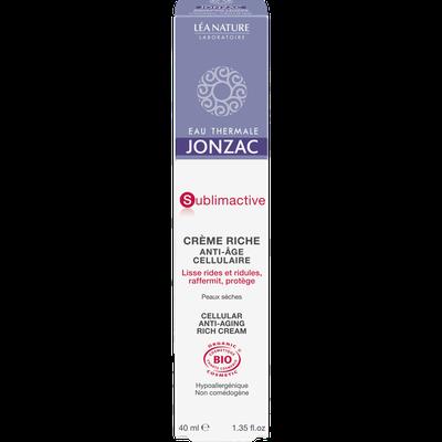 Cellular anti-aging rich cream - Sublimactive - Eau Thermale Jonzac - Face
