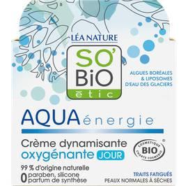 Crème dynamisante oxygénante jour - Aqua énergie - So'bio étic - Visage