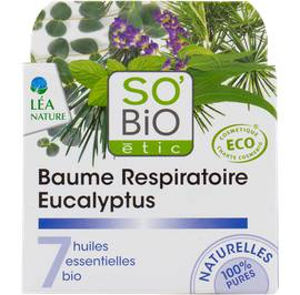Baume respiratoire eucalyptus, aux 7 huiles essentielles - So'bio étic - Massage et détente
