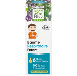 Respiratory balm for Kids, with 6 organic essential oils - So'bio étic - Massage and relaxation
