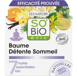 Baume détente sommeil, aux 7 huiles essentielles - So'bio étic - Massage et détente