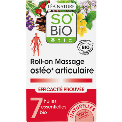 Osteo+ massage roll-on, joints and muscles well-being with 7 organic essential oils - So'bio étic - Health - Massage and relaxation