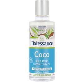 Coconut dry oil - Certified Organic - Natessance - Face - Hair - Body