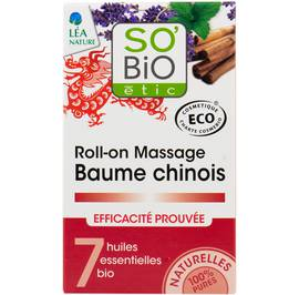 Roll-on massage baume chinois, aux 7 huiles essentielles bio - So'bio étic - Health - Massage and relaxation