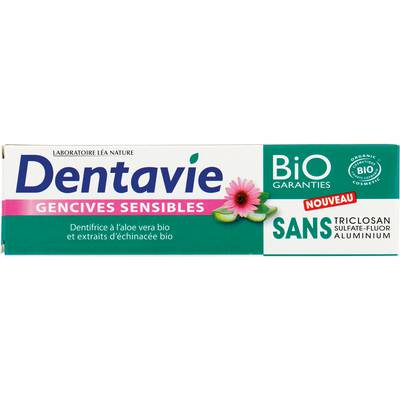 Dentifrice Gencives sensibles - Aloe vera - Dentavie - Hygiène