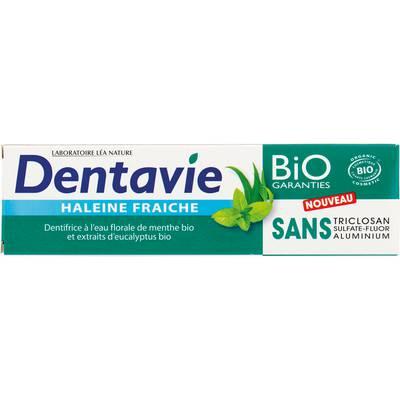 Dentifrice Haleine fraîche - Menthe et eucalyptus bio - Dentavie - Hygiène