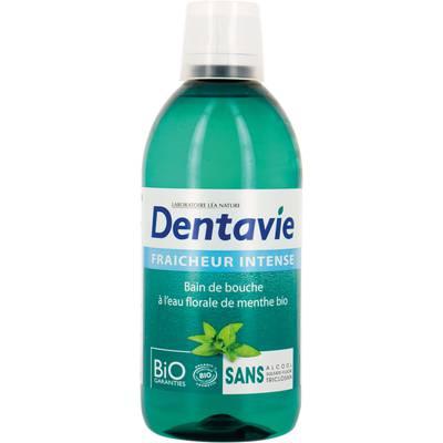 Bain de bouche fraîcheur intense à l'Aloe Vera et eau florale de menthe bio - Dentavie - Hygiène