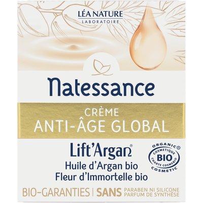 Crème anti-âge global - Lift'Argan - Natessance - Visage