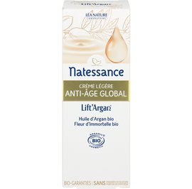 Global anti-aging light cream - Lift'Argan - Natessance - Face