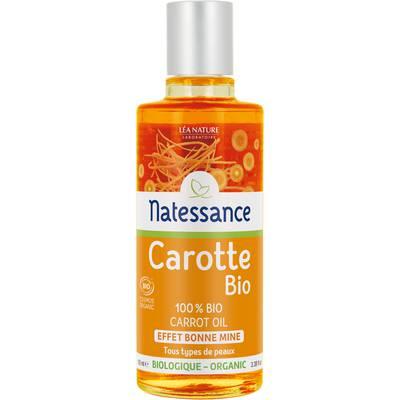 Huile de carotte 100% pure - effet bonne mine - Natessance - Visage