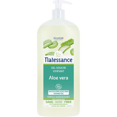 Gel douche vivifiant - Aloe vera - Natessance - Hygiène