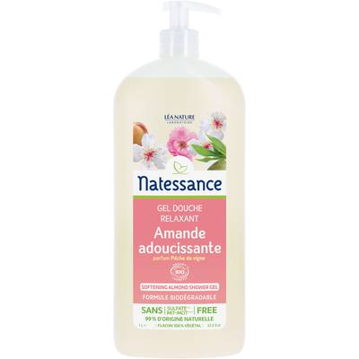 Softening almond shower gel - Natessance - Hygiene