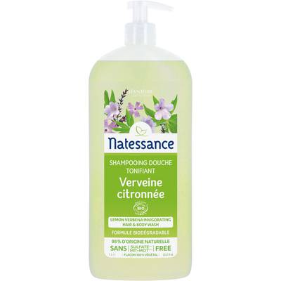 Lemon verbena invigorating hair and body wash - Natessance - Hygiene - Hair