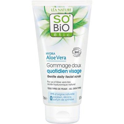 Gentle daily facial scrub - all skin types - hydra aloe vera - So'bio étic - Face