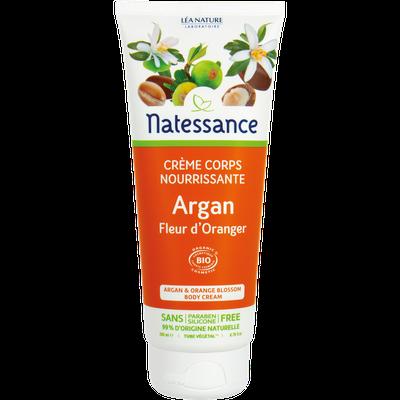 Crème corps nourrissante - Argan fleur d'oranger - Natessance - Corps