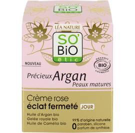 Crème rose éclat fermeté jour - Précieux Argan Peaux Matures - So'bio étic - Visage
