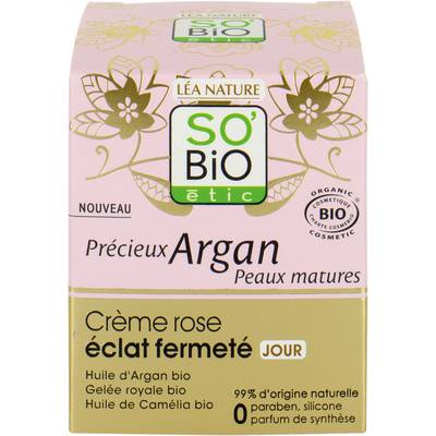 Firming radiance rosy cream DAY - Précieux Argan Mature Skin - So'bio étic - Face