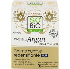 Redensifying Nourishing Cream Night - Précieux Argan Mature Skin - So'bio étic - Face