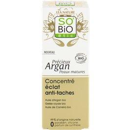 Brightening anti-dark spot concentrate - Précieux Argan Mature skin - So'bio étic - Face