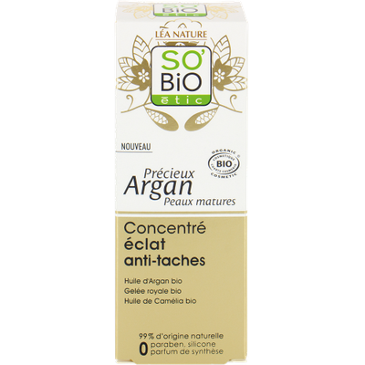 Brightening anti-dark spot concentrate - Précieux Argan Mature skin - So'bio étic - Face