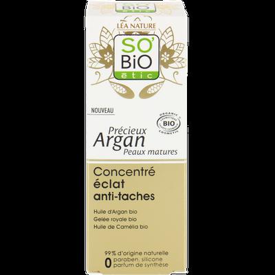 Concentré éclat anti-tâches - Précieux Argan peaux matures - So'bio étic - Visage