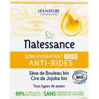 Soin hydratant jour - anti-rides - Natessance - Visage