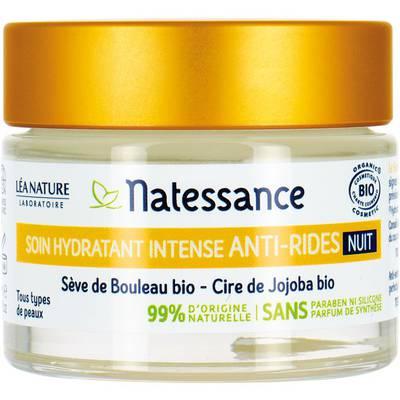 Soin hydratant intense nuit - anti-rides - Natessance - Visage