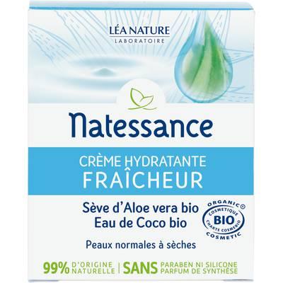 crème hydratante - fraicheur - Natessance - Visage