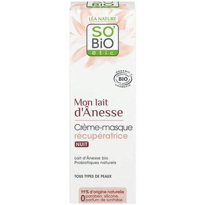 Crème-masque récupératrice nuit - Mon Lait d'Anesse - So'bio étic - Visage