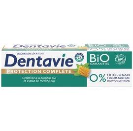 Dentifrice protection complète - Propolis et extrait de menthe bio - Dentavie - Hygiène